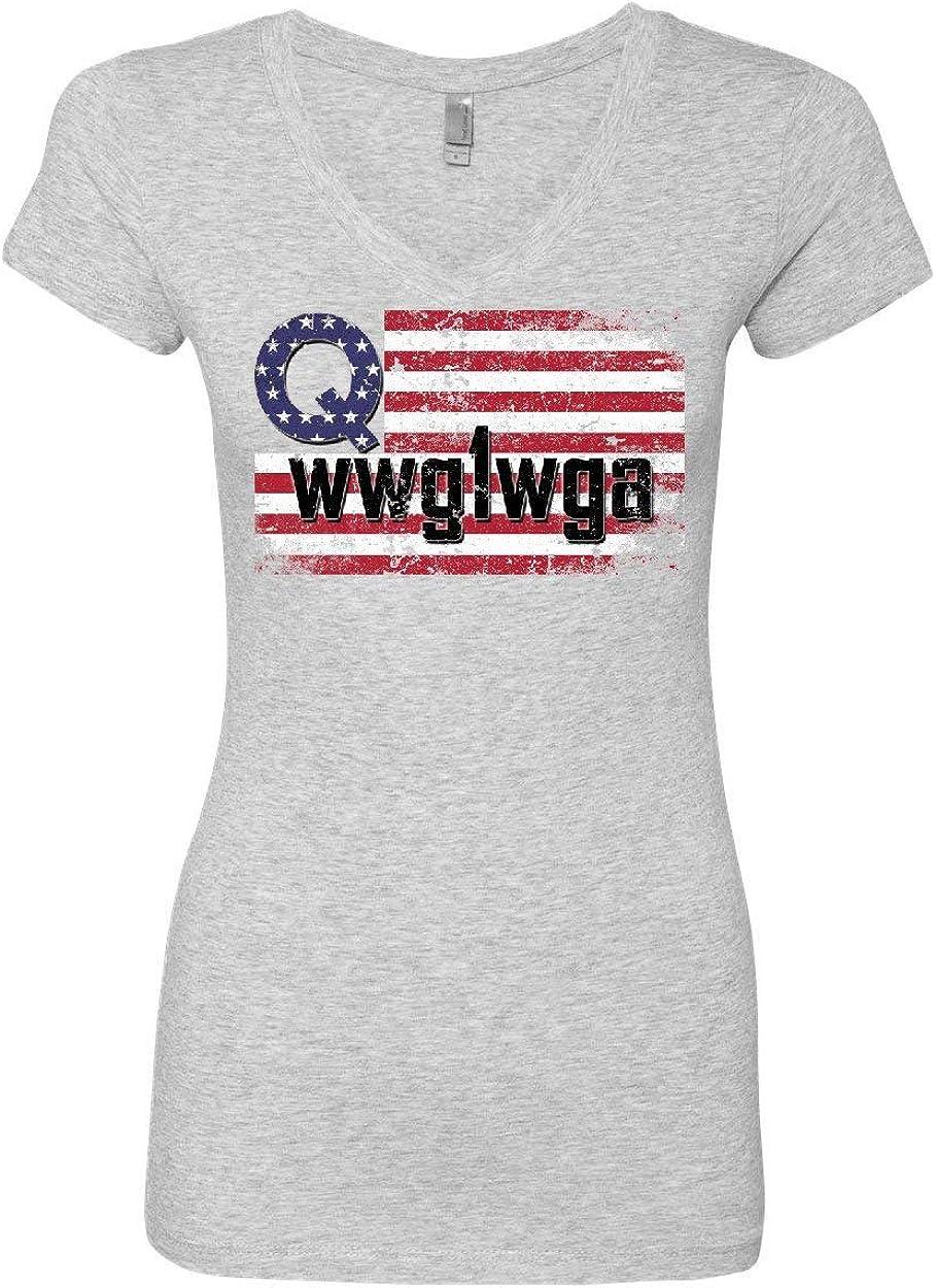 Distressed Q American Flag WWG1WGA Youth T-Shirt Deep State Patriotic Kids Tee