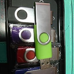 Amazon 5個セット Usbメモリ 16gb J Boxing Usbフラッシュドライブ 回転式 高速 Usbフラッシュメモリー ストラップホール付き 青 赤 黒 緑 紫 J Boxing Usbメモリ フラッシュドライブ 通販