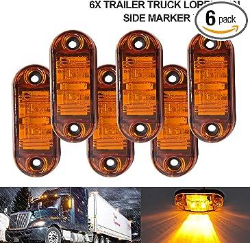 Trailer Truck Led Side Marker Lights 6Pcs 2.5 RV Marker Lights 2.5, 6 White 12V 24V Waterproof 67 Universal Fender Light Boat Marine Led Courtesy Lights Interior Lamps