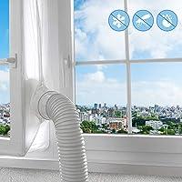Fönstertätning för luftkonditionering, varmluftsstopp för universalfönster, lätt att installera inget behov av att borra…