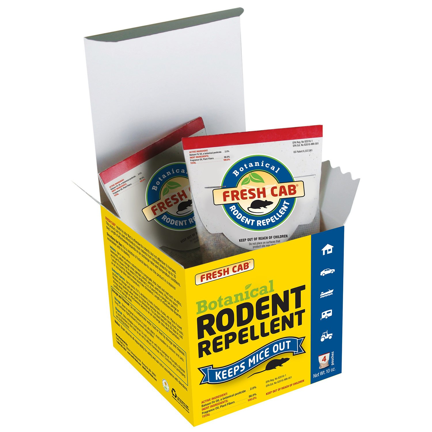 amazon com earthkind botanical rodent repellent 4 pouches 125