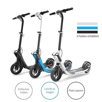 Scooter Eléctrico Para Adulto - Batería De Largo Alcance De 250 Vatios, Velocidad Máxima De 25 km/h, Diseño De Transporte Plegable y Fácil, Scooter ...