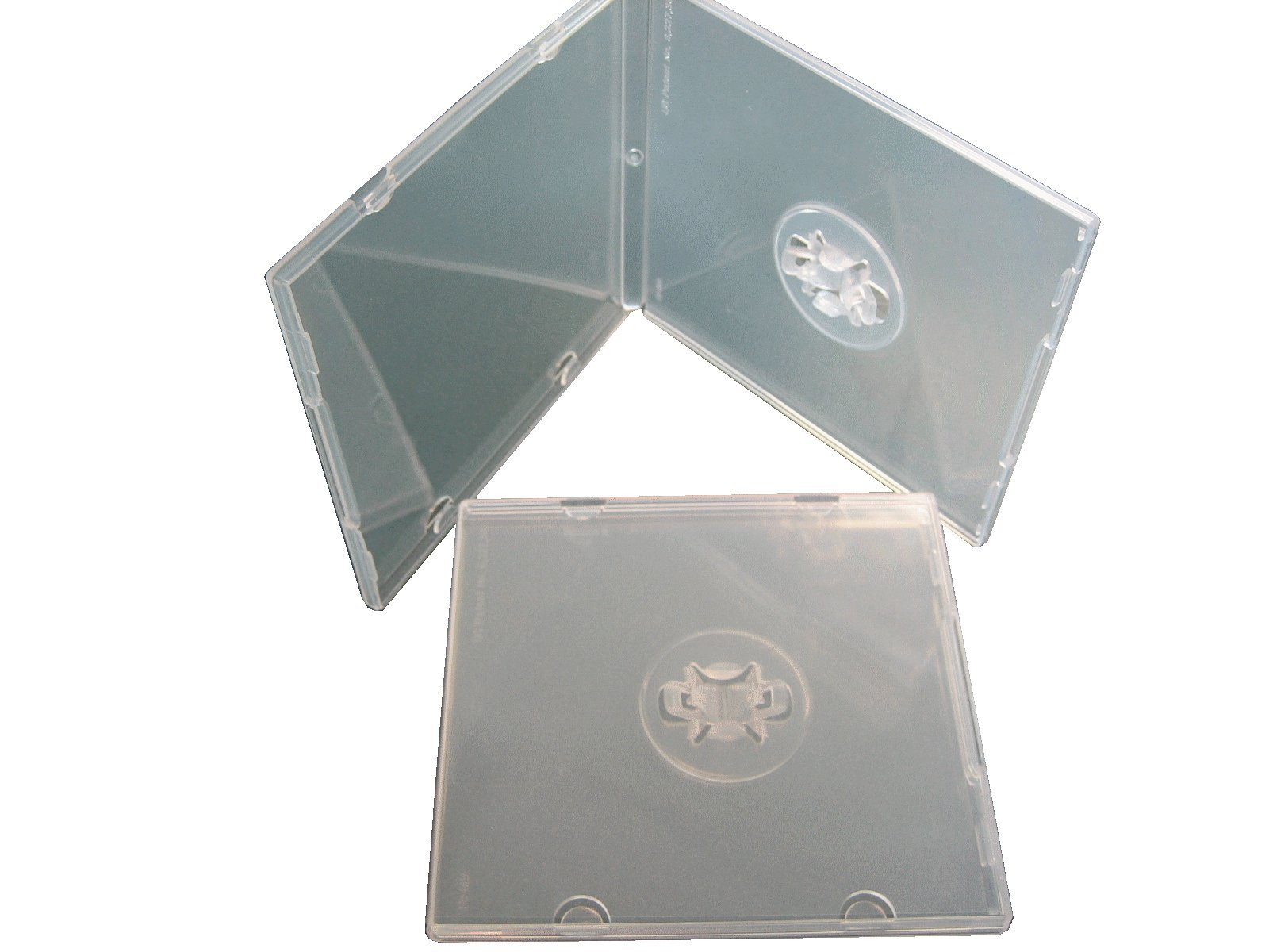 Clear Mini CD disc cases with sleeve and M-lock, SF16SM, 200 pieces