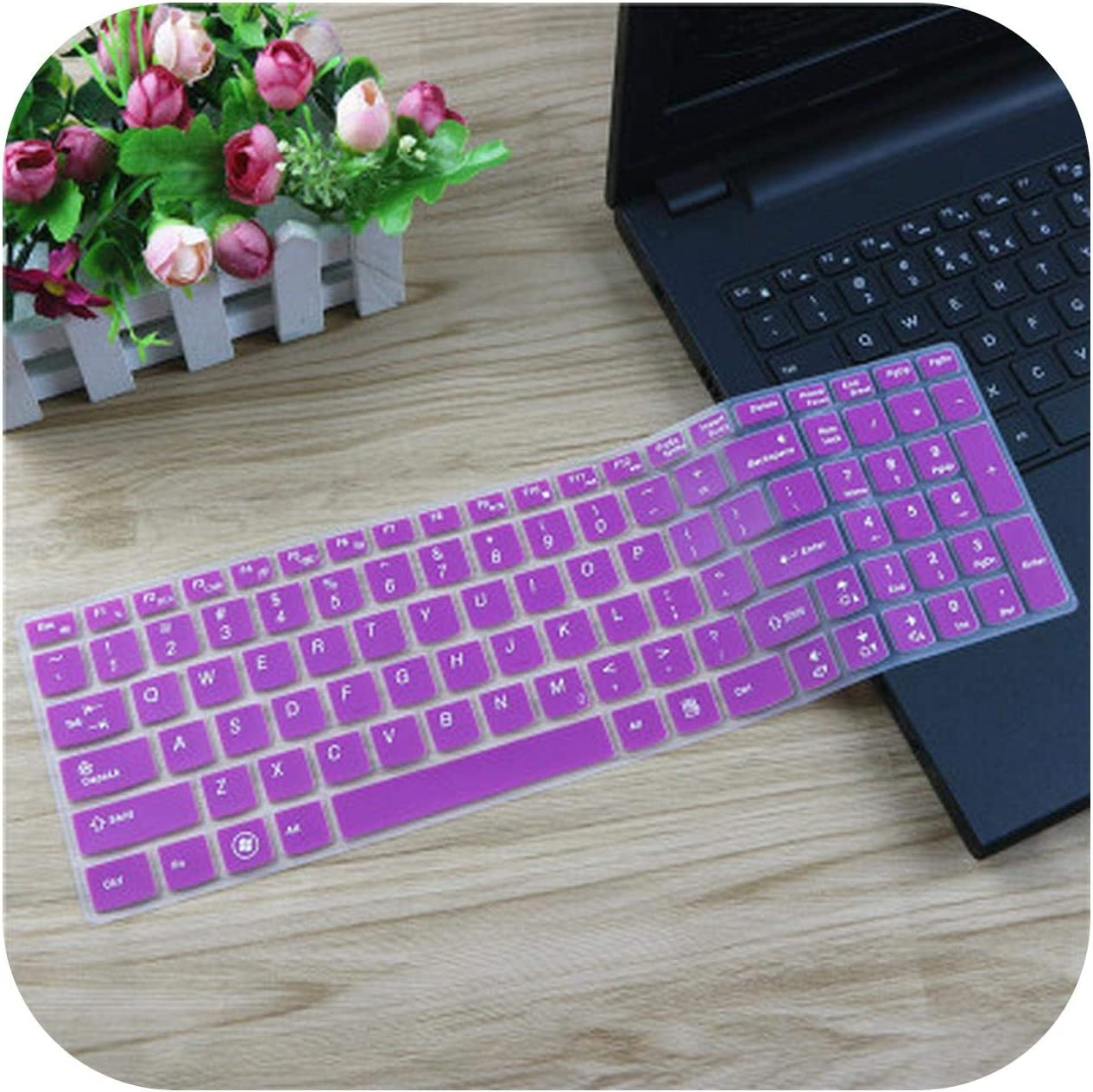 Silicone Keyboard Cover Protector Skin for Lenovo IdeaPad Y580 Y570 Y570D Y500 Y510 Y510P Z580 Z560 Z565 Z570 Z575 Laptop-Gradualpink