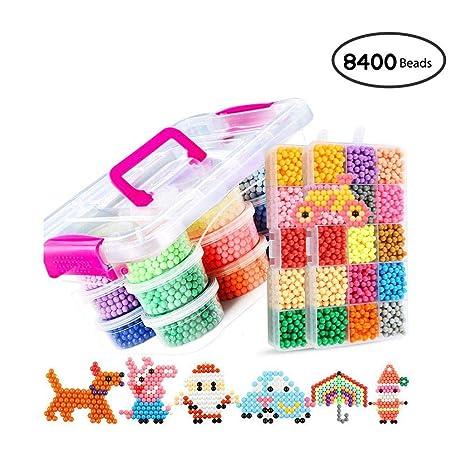 Amazon Com Umiwe Water Fuse Beads Kit 8400 Beads 30 Colors Craft