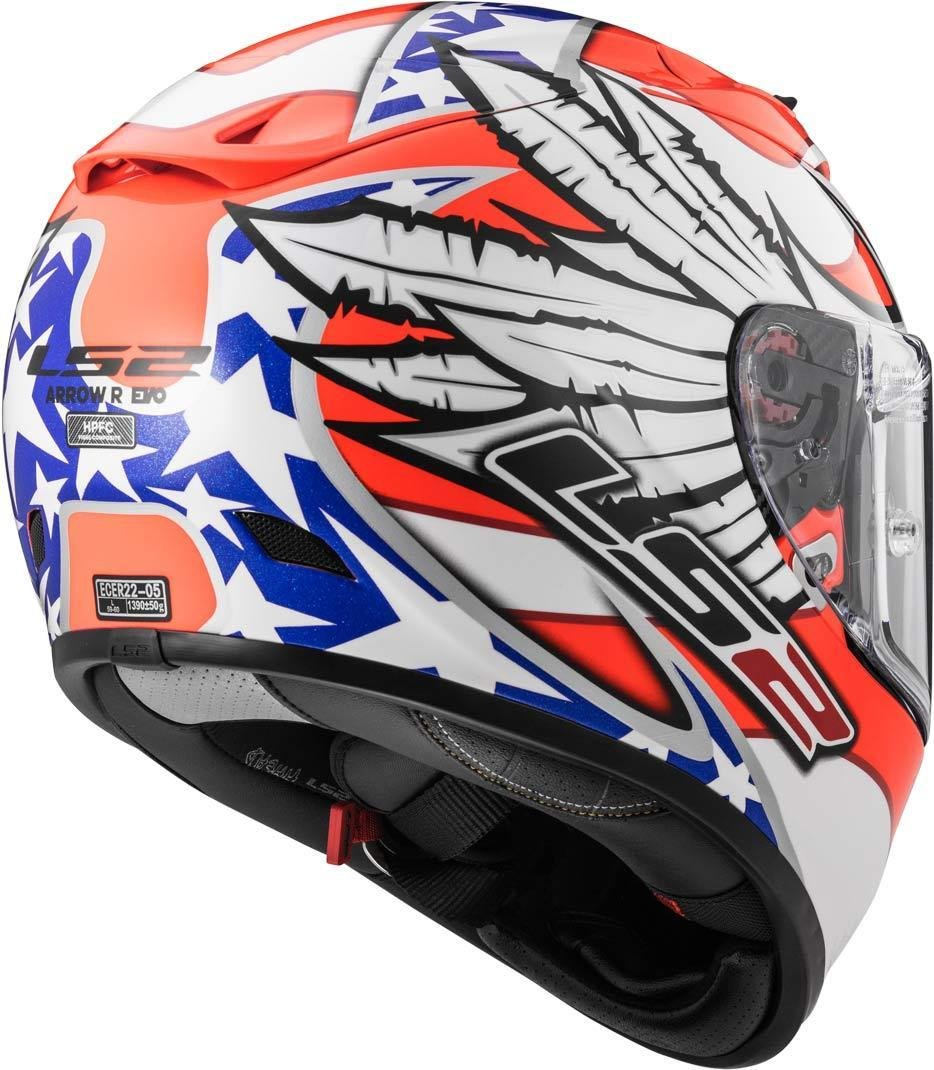 blanco//naranja M LS2/Casco Moto FF323/Arrow R EVO Freedom