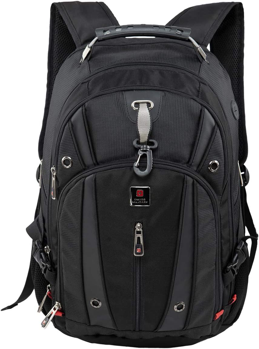 Swiss Military Luxery Collection 48 cms Black Laptop Backpack (LBP76)