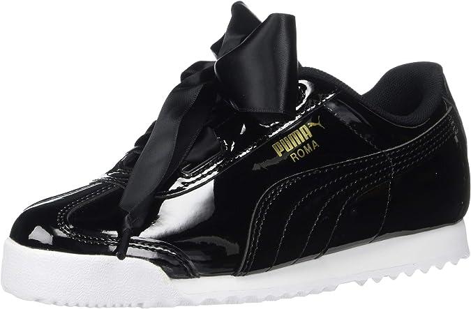 PUMA Girls' Roma Heart Sneaker, Black