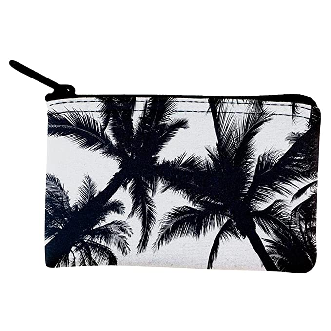 Amazon.com: Blanco y Negro palmera silueta cartera, talla ...