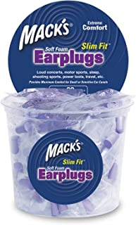 product image for Mack's Slim Fit Soft Foam Earplugs, 100 Pair - Individually Wrapped - Small Ear Plugs for Sleeping, Snoring, Traveling, Concerts, Shooting Sports and Power Tools