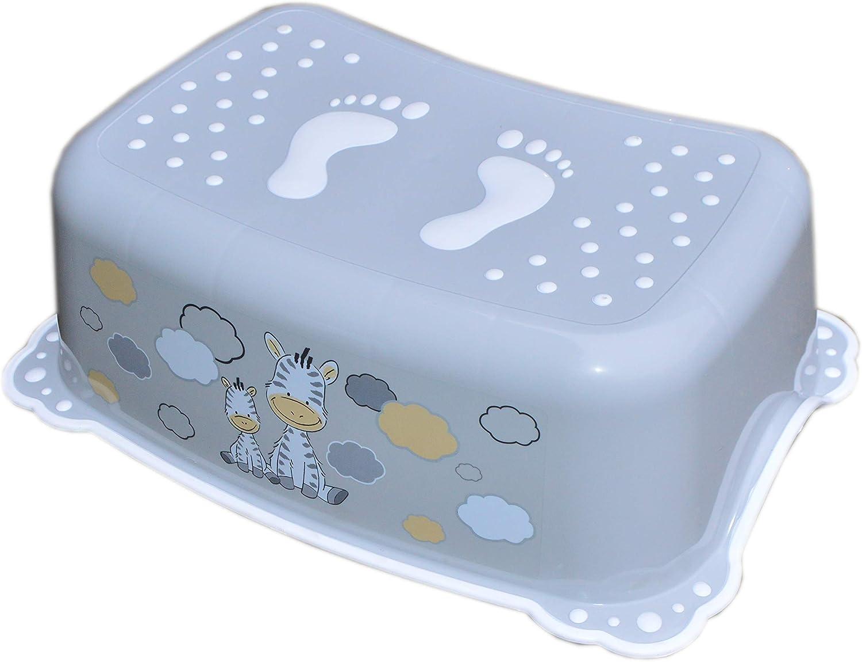 Tabouret l/éger de s/écurit/é pour b/éb/é enfant enfant enfant enfant enfant toilette cuisine salle de bain avec antid/érapant gris