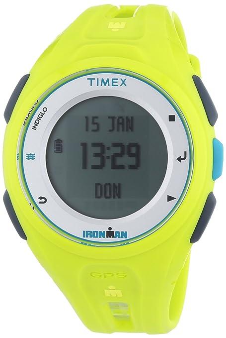 Timex Ironman Run x20 GPS Reloj Deportivo Reloj Digital Unisex Reloj de Pulsera Deportivo Running