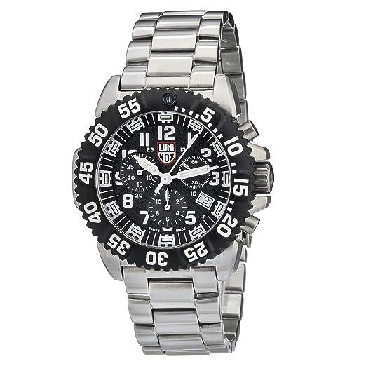 Luminox Navy SEAL Steel Colormark Chronograph XS.3182 Reloj de pulsera Cuarzo Hombre correa de Acero inoxidable Plateado: Amazon.es: Relojes