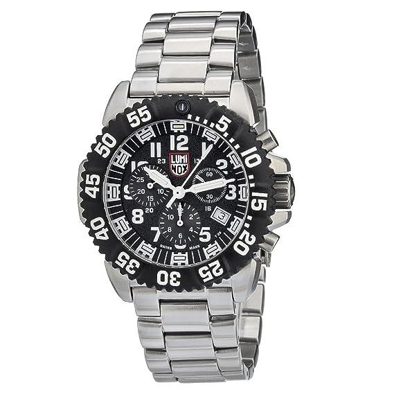 Luminox Navy SEAL Steel Colormark Chronograph XS.3182 Reloj de pulsera Cuarzo Hombre correa de