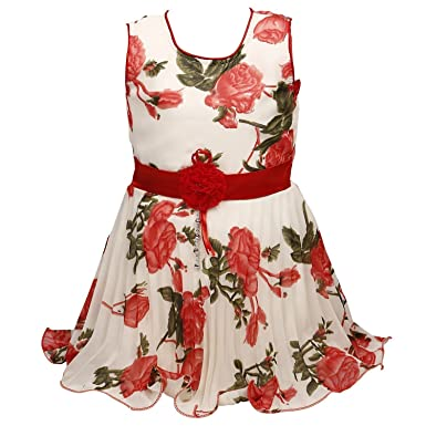 29a98103a1216 BEBO 21 Party wear Baby Girls Frock Dress (Red55B_Red_6-7 Years ...