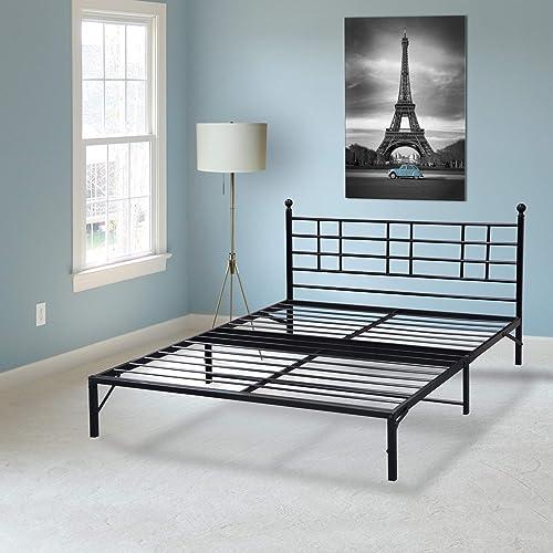 Best Price Mattress Easy Set-up Steel Platform Bed Frame