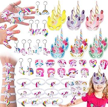Amazon.com: Pawliss 114 piezas Unicornio Party Favors ...