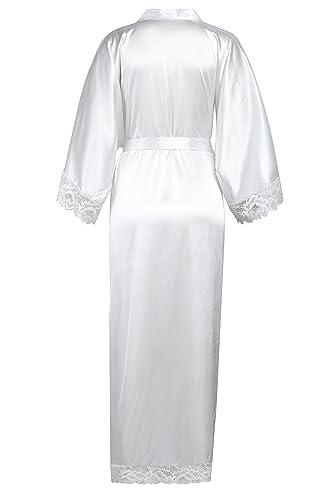 ArtiDeco Kimono Vestido Puramente Blanco Bata para Novia Dama de Honor Pijama para Boda Fiesta de Chicas: Amazon.es: Ropa y accesorios