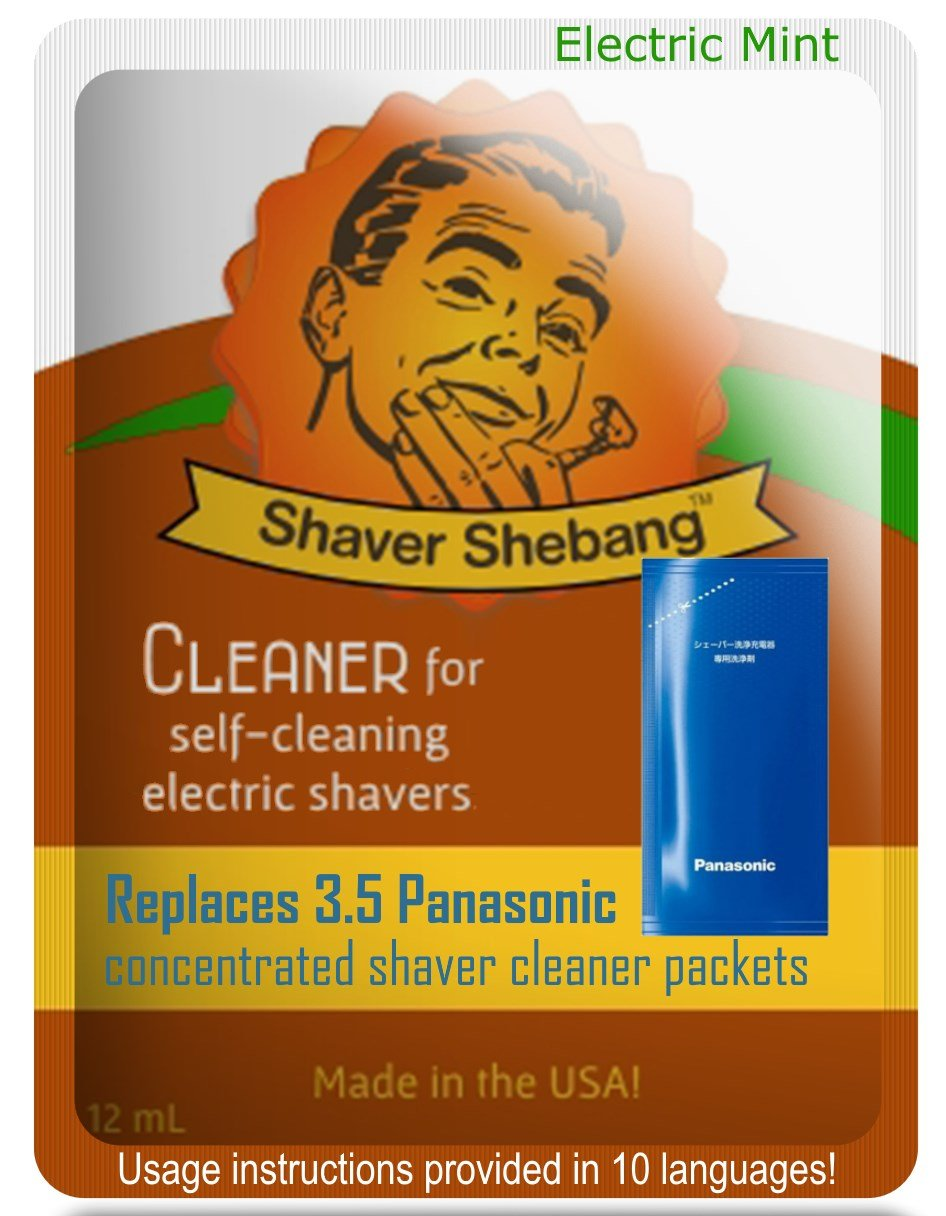 Panasonic Concentrate Citrus & Mint, 7 packets=2 pack Shaver Shebang Organek Living