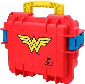 Invicta Wonder Woman - Estuche para colector de impacto (3 compartimentos), color rojo: Amazon.es: Relojes