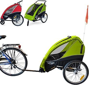 PAPILIOSHOP B-FOX Remolque carrito para transporte uno dos niños ...
