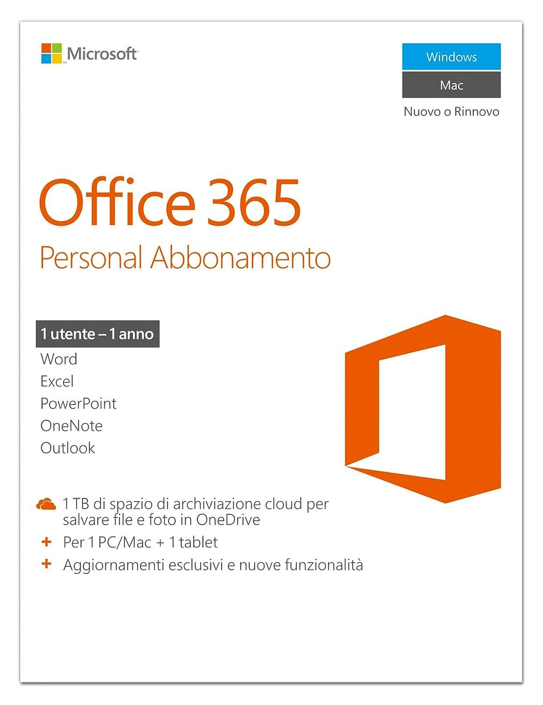 Microsoft Office 365 Personal [1 PC / 1 Anno] (Versione 2016): Amazon.it:  Software