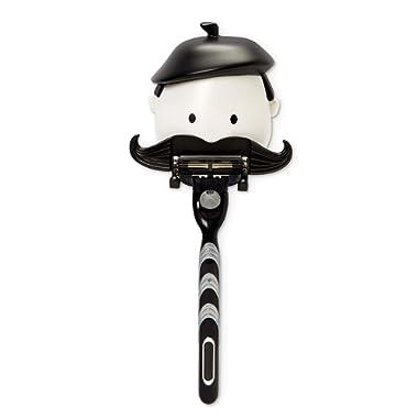 PELEG DESIGN Mr. Razor – Razor Holder Suction Shaving Razor Holder for Shower Bathroom Bath Unique Gifts