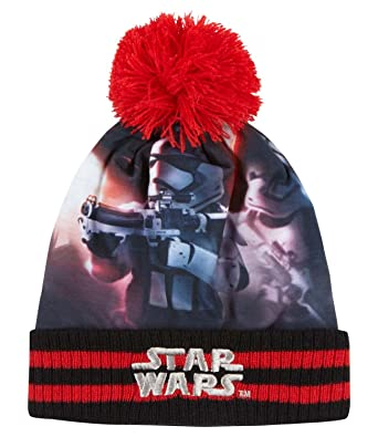 d8eb2f8b40fcf Star Wars-The Clone Wars Darth Vader Jedi Yoda Boys Knit hat - red - 54   Amazon.co.uk  Clothing