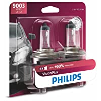 Philips 9003VPB2  VisionPlus Upgrade Headlight Bulb, Pack of 2