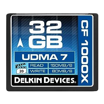 Delkin DDCFCOMBAT1000-32GB 32GB CF 1000X UDMA 7 Memory Card