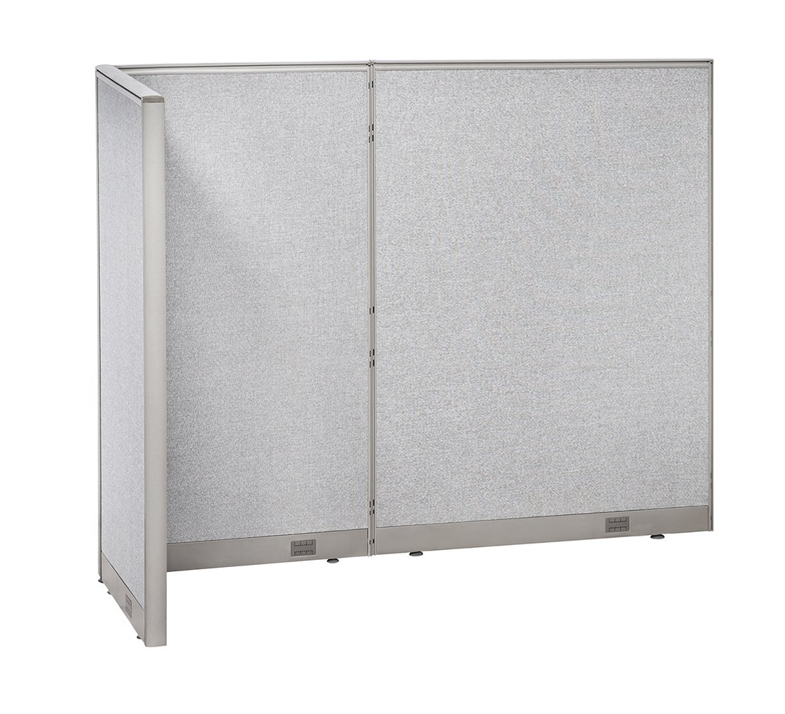 GOF Freestanding L Shaped Office Partition, Large Fabric Room Divider Panel, 36'' D x 84'' W x 72'' H