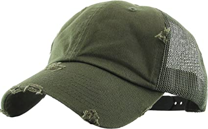 KBE-VM OLV Vintage Washed Mesh Back Cotton Dad Hat Baseball Cap Polo Style fb07198ce395