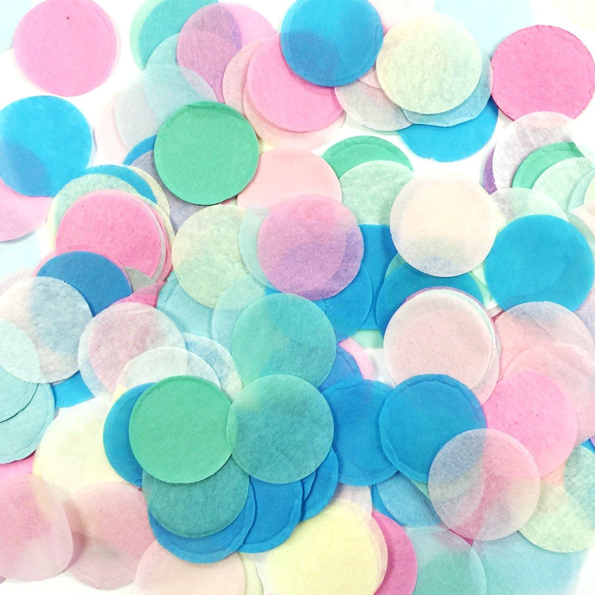 ALLYDREW Round Tissue Paper Confetti 1 Circle Confetti Pink
