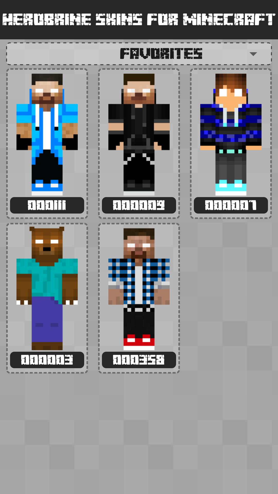 Herobrine Skins for Minecraft PE