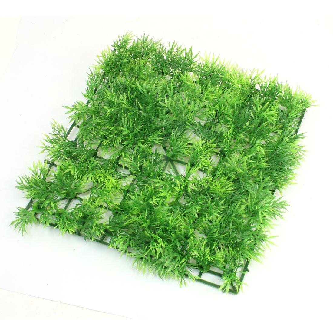uxcell 人工水草 水槽用 アクアリウム 装飾 グリーン プラスチック グラス 人造 ローン 25 x 25cm B006W2HZ9O type1 type1
