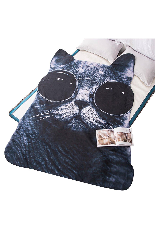 Getime 3D Animal Prints Blanket Bedding Cat Washable Summer Quilt Comforter Light Quilt by Getime
