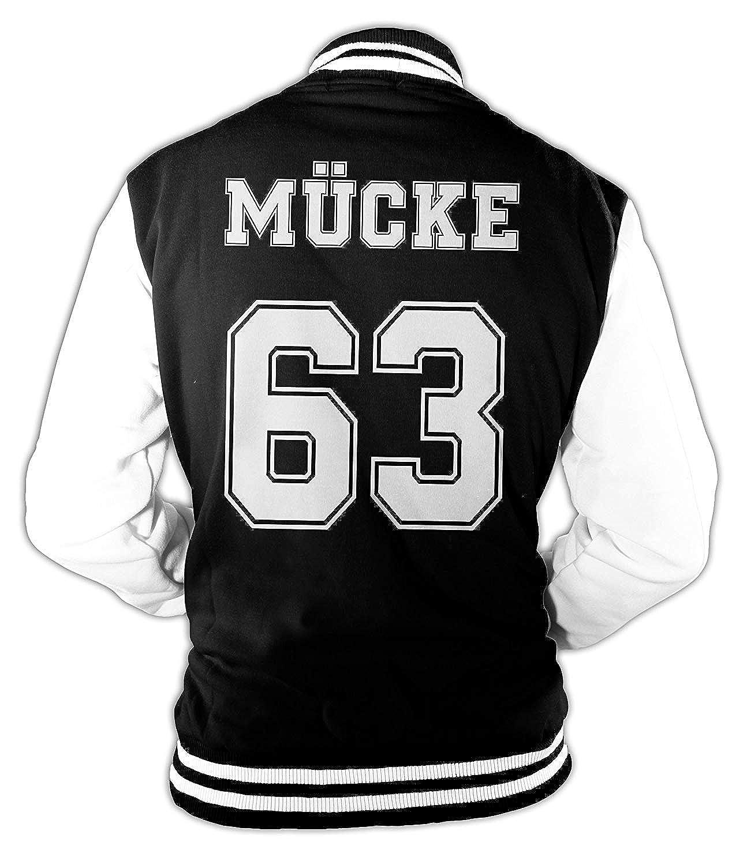 Herren College Jacke M/ücke Buddy Movie Star Film 63 Baseballjacke