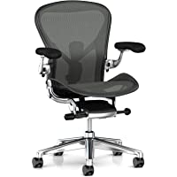 Herman Miller Aeron Ergonomic Office Chair with Tilt Limiter | Adjustable PostureFit SL and Arms | Large Size C with…