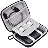 King of Flash Shockproof EVA Hard Drive Case, Portable Protective Bag for 2.5 inch HDD SSD of 500g, 1TB, 2TB Hard Drive from WD, Toshiba, Seagate, Samsung, Hitachi and SD Cards, USB Cable,Pen Drive