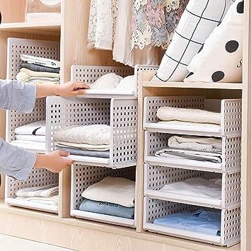 Hervorragend Yoillione Kleiderschrank Organizer Regal Garderobe Organizer,Weiße DZ27