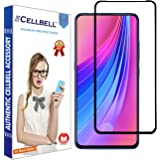 CELLBELL 11D Edge to Edge Tempered Glass Screen Protector with Installation Kit for Vivo V15 [Black]