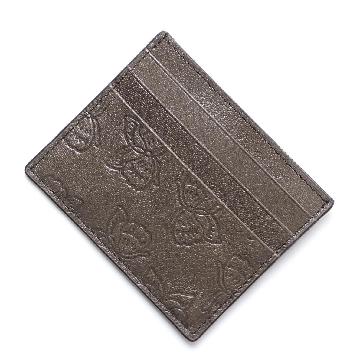 (ボッテガヴェネタ) BOTTEGA VENETA カードケース/LEATHER [並行輸入品] Free STEEL B07BKY48CL