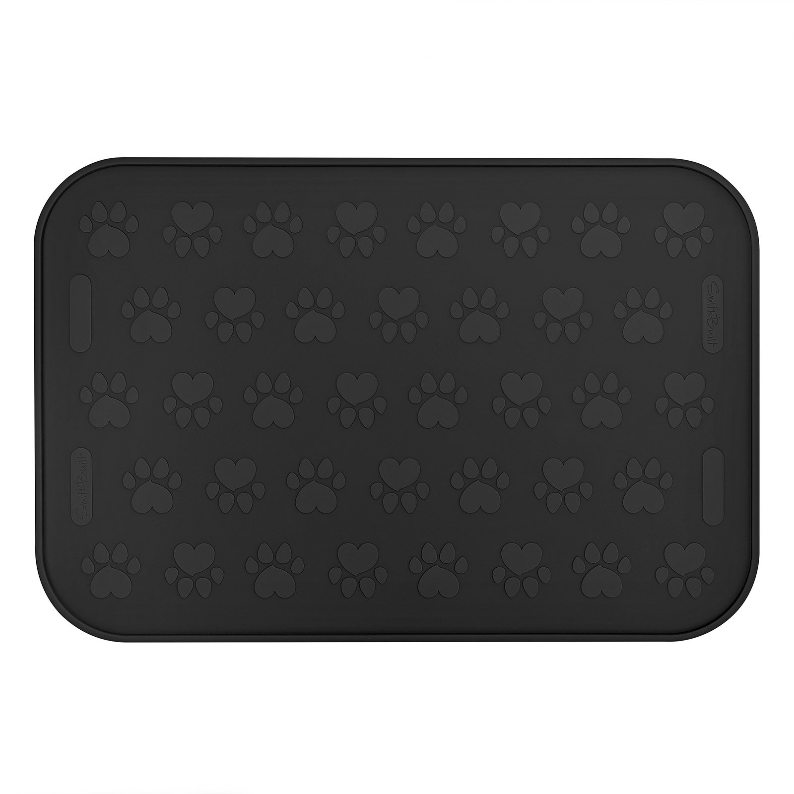 SmithBuilt 24'' x 16'' Large Dog Food Mat - Waterproof Non-Slip FDA-Grade Silicone Cat Pet Bowl Feeding Placemat - Black by SmithBuilt (Image #3)
