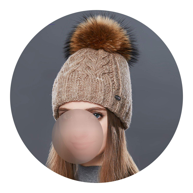 7 Glittering timeCA Thick Warm Double Layer Women Winter Hats Fashion Coarse TwistType Knitted Hat