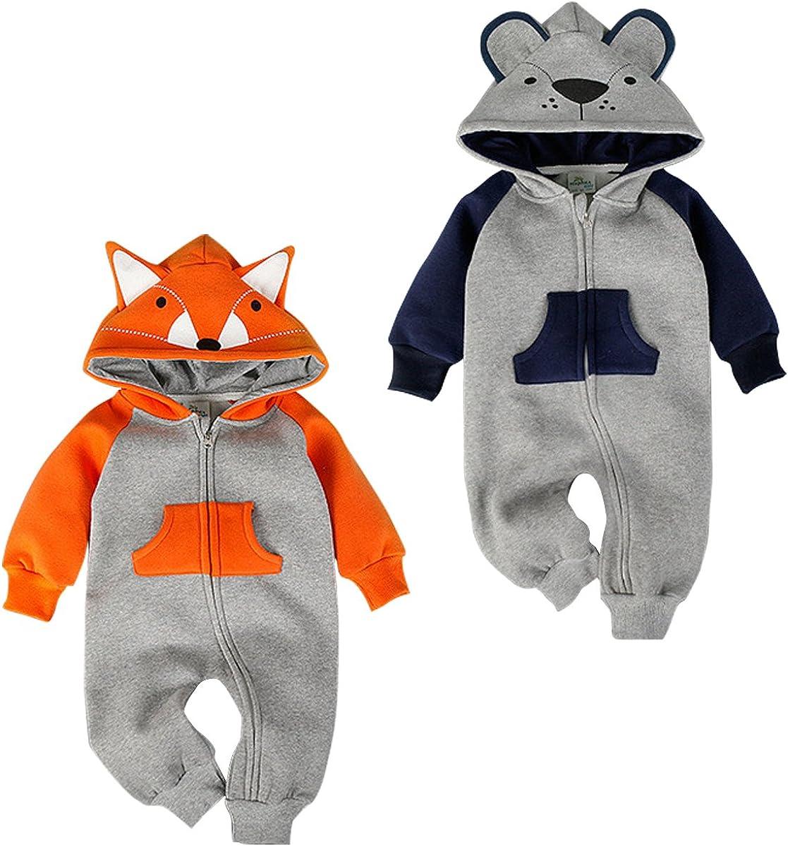 Bebone Baby Junge M/ädchen Strampler Baumwolle Babykleidung