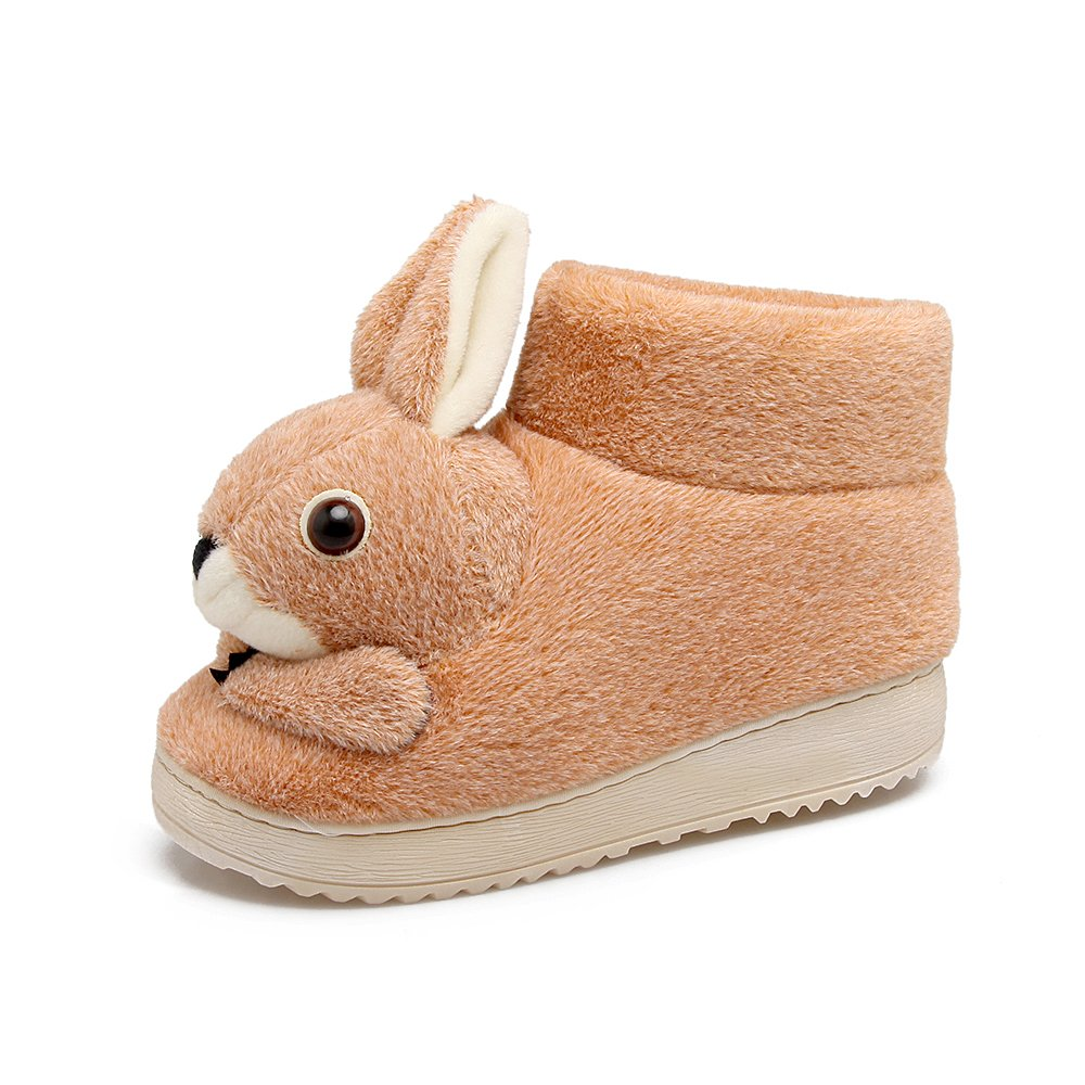 ,Apricot Aemember Indoor Cotton Slippers Home Furnishing Lovely Rabbit Anti Slip Bag With Warm Winter Cotton Shoes,245 For 36, 37 Feet
