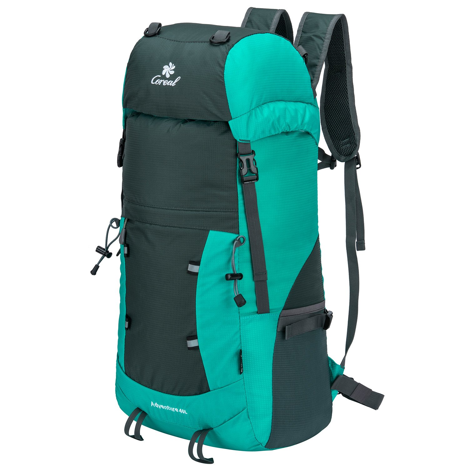 Coreal 40L Lightweight Foldable Backpack Hiking Travel Packable Daypack Lake Blue