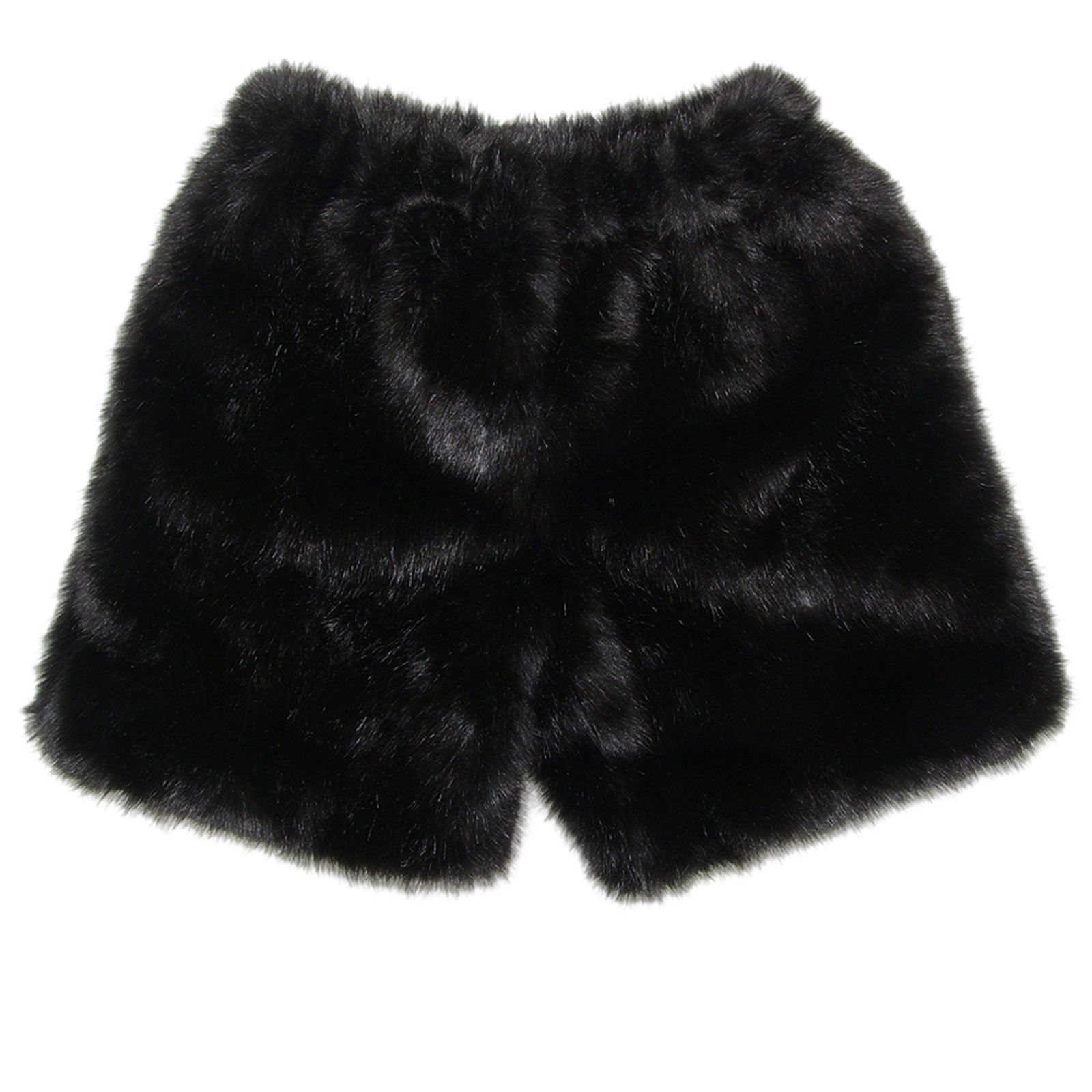 MinkgLove Fake Mink Boxers Silky Texture Feel, Fur Fly, Black - Single Sided Fur