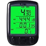 サイクルコンピューター YKS 自転車スピードメーター LCD 防水 携帯便利 ブラック