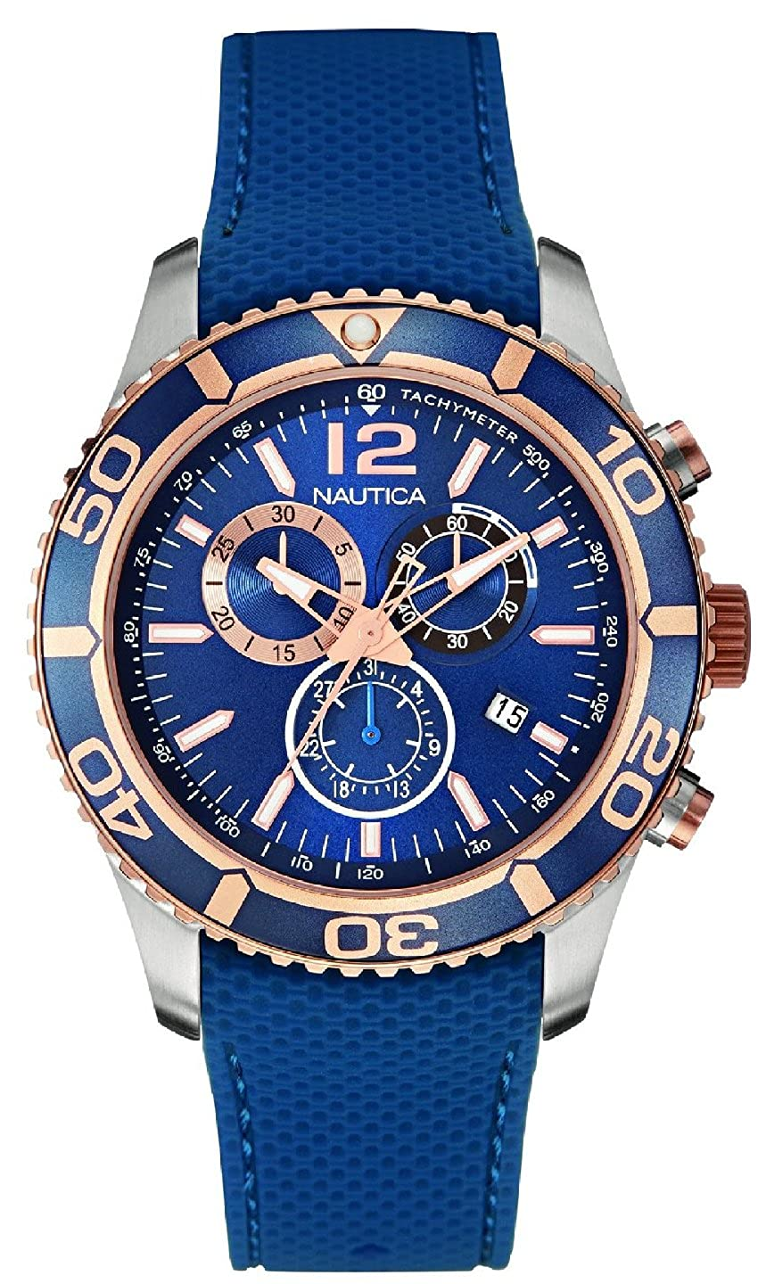 6bee9d646e1 Amazon.com  Nautica nst-09 Mens Analog Quartz Watch with Rubber Bracelet  NAI16502G  Watches
